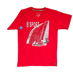 Koszulka żeglarska Sport Yachts RED